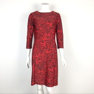 JUDE CONNALLY RED PRINTED DRESS